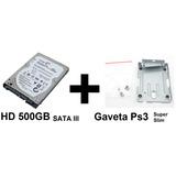 Hd 500gb Seagate + Gaveta Suporte P/ Hd Ps3 Super Slim 12gb