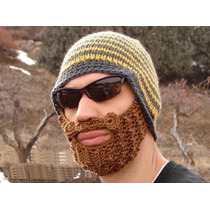 Gorro Con Barba Excelente Para El Frio Disfraz Moda 2016
