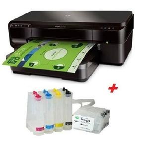 Impressora Hp 7110 A3 + Bulk Ink + 500ml De Tinta Pigmentada