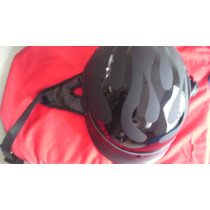 Casco Chopper Flamas Negras