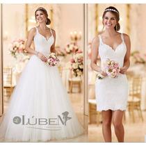 Promoção Até 23/02 Vestido De Noiva Civil E Igreja 2 Em 1