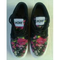 Zapatillas Pony Dama Nº39 Botita-excel Diseño-casi Sin Uso!!