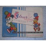 Folleto Cinur Films 1963 Cine Fiesta Infantil Tarjeta Cumple