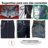 Corrente Metalizada P/ Usar C/ Jeans Punk/hip Hop - Fem/masc