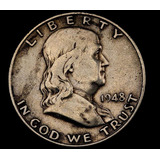Moneda De Plata Usa - Medio Dolar - 1948d Franklin - #y1937