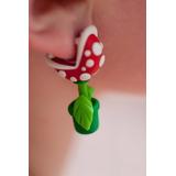 Aros Mario Bros Planta Carnivora Arcilla Roja/verde 3d