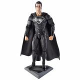 Superman 16 Cm Man Of Steel Negro 100% Mattel Orig.
