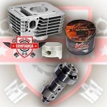 Kit Motor Pistao Vini Ybr/xtz125 150cc C/pistão +comando Wgk