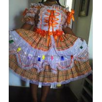 Vestido Junino Luxo Frete Grátis 0 A 6 Anos