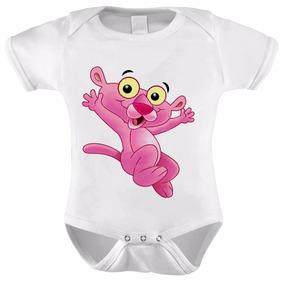 Body Baby A Pantera Cor De Rosa Bebê Desenho Animado Rosa Pi
