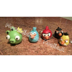 Llaveros De Angry Birds En Porcelana Fria