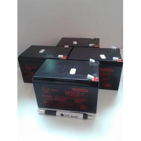 Kit 4 Bateria 12v 12ah Bicicleta Elétrica Tkx-900 Trackbikes
