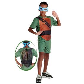 Fantasia Tartaruga Ninja Leonardo Curto Pop Infantil