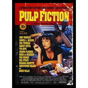 Quadro Poster Cinema Filme Pulp Fiction 0196 Com Moldura A3