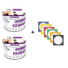 100 Dvd-r Virgem Multilaser + 100 Envelope De Papel C/ Visor