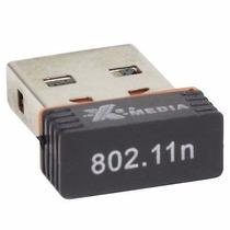 Tarjeta Red Inalambrica Wifi Usb Con Antena 300 Mts 150 Mbps
