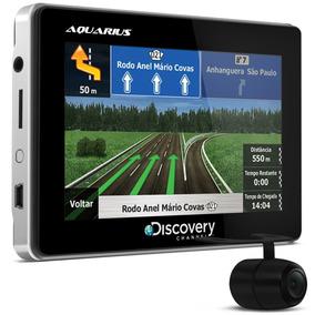Gps Automotivo Aquarius 3d Map 4.3 C/ Câmera Ré Tv Digital
