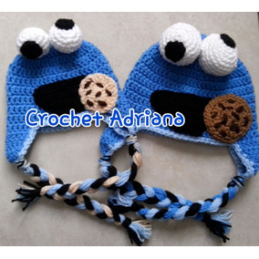 Gorro Cookie Monster,varios Modelos Crochet Tejidos