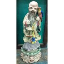 Antigua Figura De Porcelana China De 48 Cm De Alto