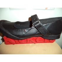 Kickers Negro Talla 40 Colegial Uniformes Dama Cuero 26cm