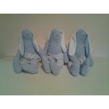 Muñecos - Conejos De Patas Largas Vestidos Tela Artesanales