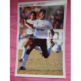 Corinthians -poster Autografado Do Atacante Viola-relíquia