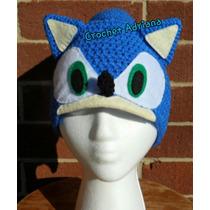 Gorro Sonic Tejido Crochet Niños Y Adultos
