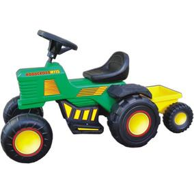 Tractor Electrico Rodacross 6v Con Trailer Carga Juguetes