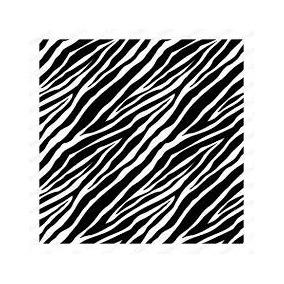 Sellos Gigante 15x15cm Cebra Zebra Goma Roja Scrapbook
