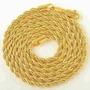 Cordão Unissex Folheado Ouro 18k Modelo Corda Frete Grátis
