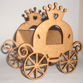 10 Cachepô Carruagem Princesa Decoração Lembrancinha Festa