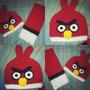 Bufanda + Gorro Tejido Crochet Angry Birds