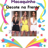Macaquinho Feminino Várias Cores Malha Decote Short! Lindo