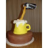 Torta P Hombre Cumpleaños Aniversario Chopp Cerveza