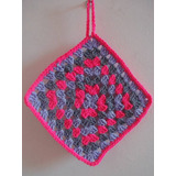 Agarradera Apoya Pava Crochet Granny Square Cocina