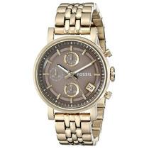 Relógio Feminino Fossil Es3694 Dourado Novo Original