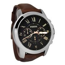 Relógio Fossil Masculino Fs4813 Couro Marrom Novo Original