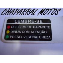 Etiqueta Precaucao Tanque Cbx 750f Original