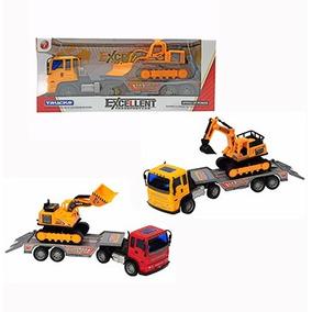 Caminhão Transporte C/ Dois Carrinhos Brinquedo Criança