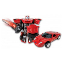 Robô Transturbo C/luz Som Articulado Transformers Mundi Toys