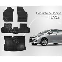 Tapete Hb20s 2012 2013 2014 2015 Borcol 3pcs + Porta Malas