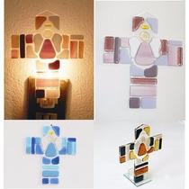 Cruces En Vidrio Fusionado Docena