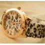Reloj Leopardo Geneva Animal Print Cromada 2 X 49 Soles