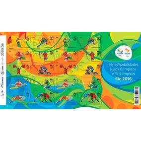 Folha De Selos Olimpíadas 2016 - 20 Selos - 1ª Emissão