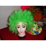 Peluca Afro Cotillón O Disfraz !!! Solo Verde O Rosada