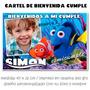 Nemo Y Dory Cartel Bienvenida Cumpleaños Personalizado Cfoto