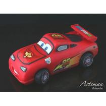 Rayo Mc Queen Cars, En Porcelana Fría Adorno Para Torta