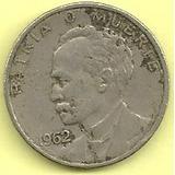 Moneda Cuba 20 Centavos (1962) Jose Marti