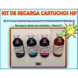 Kit De Recarga Para Cartuchos Te Tinta Hp. Ahorra!!!