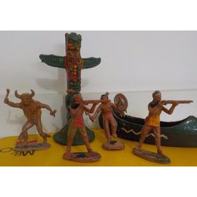 Forte Apache Gulliver Lote Índios/canoa/totem